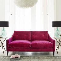 Seating - Deep Dream Sofa Collection I Graham and Green - pink velvet sofa, modern pink velvet sofa, fuchsia pink velvet sofa, contemporary pink velvet sofa,