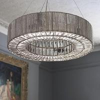 Lighting - Beatrice Chandelier I Graham and Green - art deco style chandelier, glass and silver beaded chandelier, round art deco style chandelier, silver art deco style chandelier,