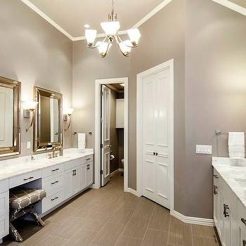 Gray Walls for Bathroom, Contemporary, bathroom, Sherwin Williams Functional Gray, Hatfield Builders and Remodelers
