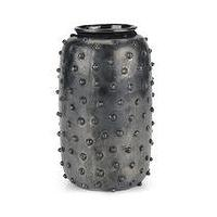 Decor/Accessories - Studded Vase I Kelly Wearstler - metal colored stedded vase, gunmetal studded vase, studded gray vase,