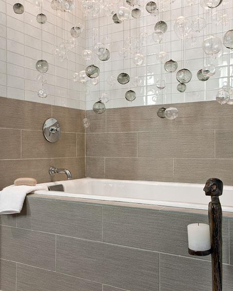 Glass Bubbles Pendant Contemporary Bathroom Eric Roseff Design
