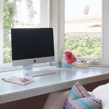 Floating Desk, Contemporary, den/library/office, Samantha Gluck Interiors