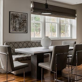 Gray Dining Room, Contemporary, dining room, Eric Roseff Design