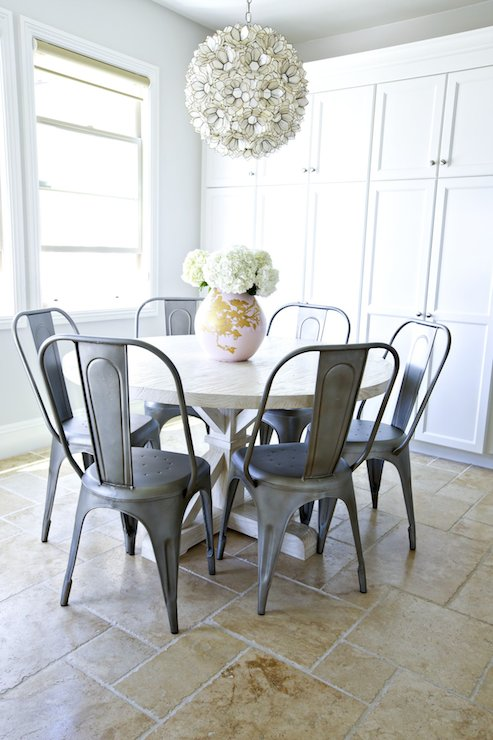 Tolix Chairs Transitional Dining Room Studio Mcgee