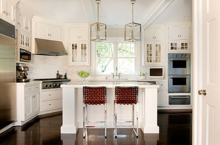Corner Stove - Contemporary - kitchen - Laura Tutun Interiors