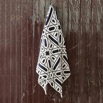 Decor/Accessories - Geometry Throw I Terrain - black and white throw, modern black and white throw, black and white geometric throw, recycled black and white cotton throw,