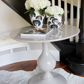 Gray Foyer Table, Contemporary, entrance/foyer, Studio McGee