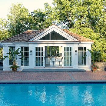Pool House, Contemporary, pool, Laura Tutun Interiors