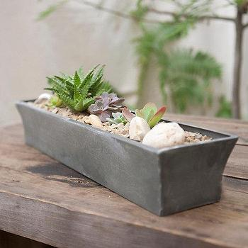 Decor/Accessories - Zinc Windowsill Trough I Terrain - zinc planter, zinc windowsill planter, zinc windowsill trough, slim zinc planter,