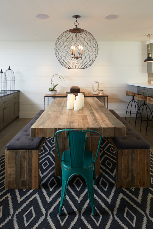 Salvaged Wood Dining Table Contemporary Dining Room