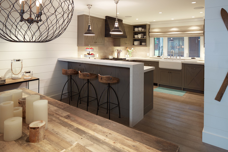 Arteriors Henson Wood Iron Swivel Stools Contemporary Kitchen Artistic Designs For Living