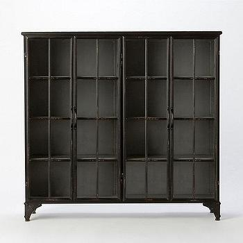 Storage Furniture - Iron & Glass Collectors Cabinet I Terrain - iron and glass cabinet, iron and glass collectors cabinet, industrial style cabinet,