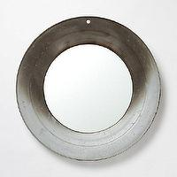Mirrors - Farm Fresh Mirror I Terrain - re-purposed round mirror, re-purposed galvanized tin mirror, round galvanized tin mirror,