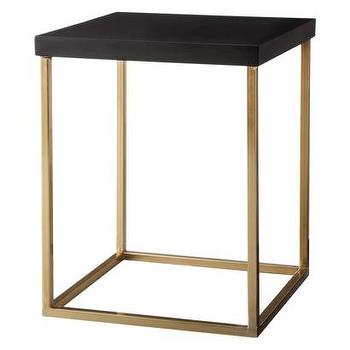 Tables - Threshold Square Accent Table - Black and Gold I Target - black and gold accent table, gold based accent table with black top, square gold accent table with black top,