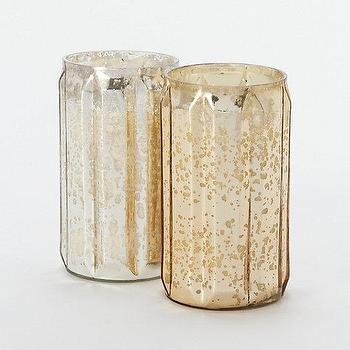 Decor/Accessories - Mercury Glass Tall Candle I Terrain - mercury glass candle, filled mercury glass candle, scented mercury glass candle,
