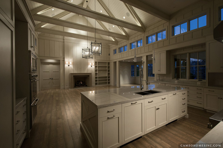 Kitchen cathedral ceiling contemporary kitchen cameo for Cathedral ceiling kitchen designs