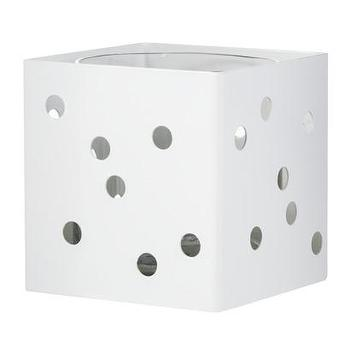 Decor/Accessories - Nate Berkus Single Candle Holder White I Target - modern white candle holder, white pierced candle holder, white square shaped pierced candle holder,