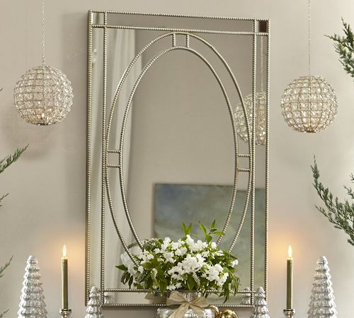 Mirror lady earnestine silver rectangle mirror look for less for Decorative mirrors for less