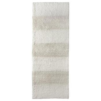 Bath - Nate Berkus Bath Runner I Target - striped white and beige bath runner, white and beige bath runner, striped bath runner, bath rug runner,