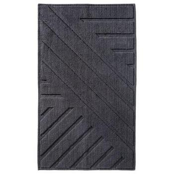 Bath - Nate Berkus Bath Mat I Target - charcoal gray bath mat, dark gray bath mat, dark gray geometric bath mat, gray bath mat, gray bath rug,