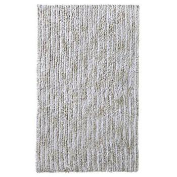 Bath - Nate Berkus Striated Bath Rug I Target - gray bath rug, gray bath mat, striated gray bath rug,