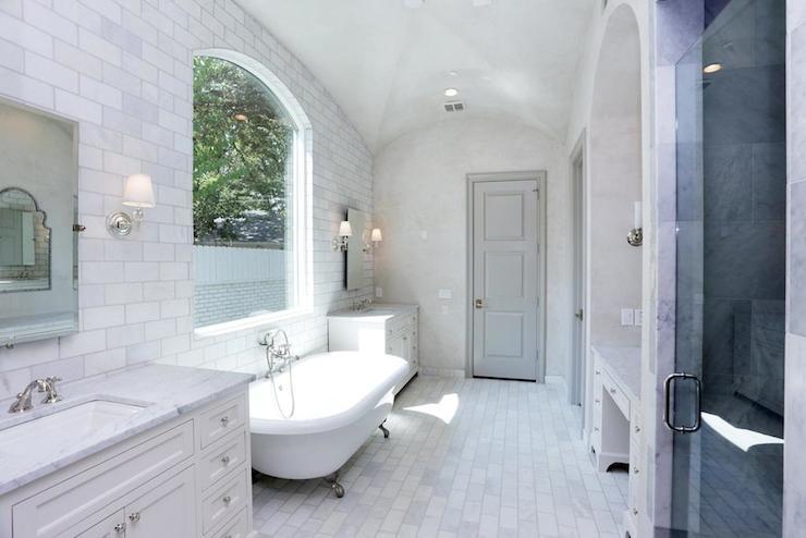 Bathroom Barrel Ceiling Transitional Bathroom Har