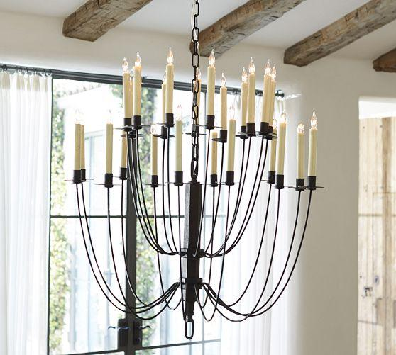 Pottery Barn Chandelier Wiring Instructions: Hartford Chandelier