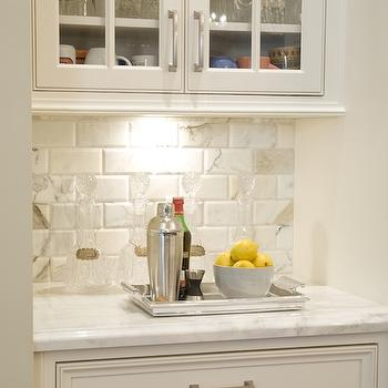 Beveled Marble Subway Tiles, Transitional, kitchen, Austin Bean Design Studio