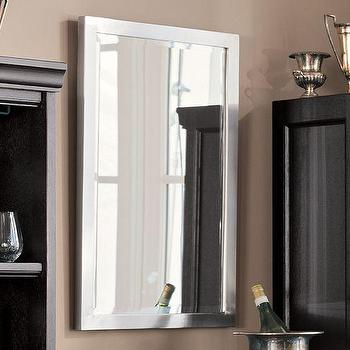Mirrors - Studio Mirror | Pottery Barn - brushed pewter mirror, pewter framed mirror, beveled pewter mirror,