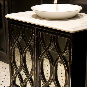 Black Mirrored Vanity, bathroom, Austin Bean Design Studio