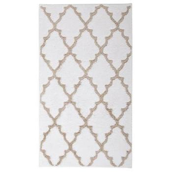 Bath - Target Home Ogie Bath Rug I Target - beige and white geometric bath rug, beige and white lattice bath rug, beige and white trellis bath rug,
