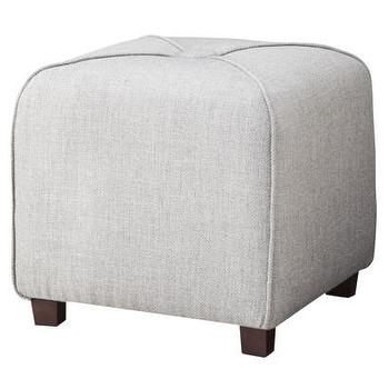 Seating - Threshold Ottoman - Gray I Target - gray ottoman, square shaped gray ottoman, cube shaped gray ottoman,