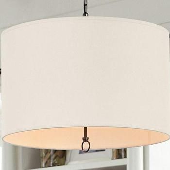 Lighting - Linen Drum Pendant | Pottery Barn - linen drum pendant, drum pendant, linen drum pendant with diffuser,