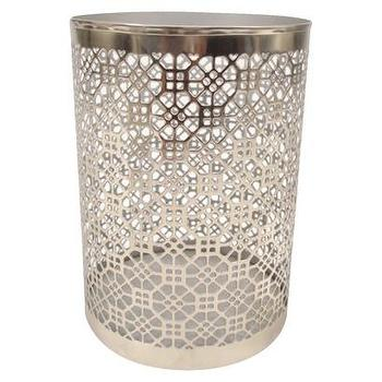 Decor/Accessories - Threshold Silver Lattice Hurricane - Large I Target - silver fretwork candle holder, silver lattice hurricane candle holder, silver lattice candle holder,