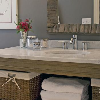 Weathered Oak Washstand, Transitional, bathroom, Austin Bean Design Studio