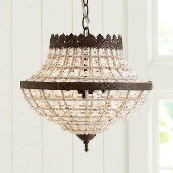 Lighting - Dalila Beaded Crystal Chandelier | Pottery Barn - glass bead chandelier, beaded crystal chandelier, beaded crystal chandelier with bronze frame,
