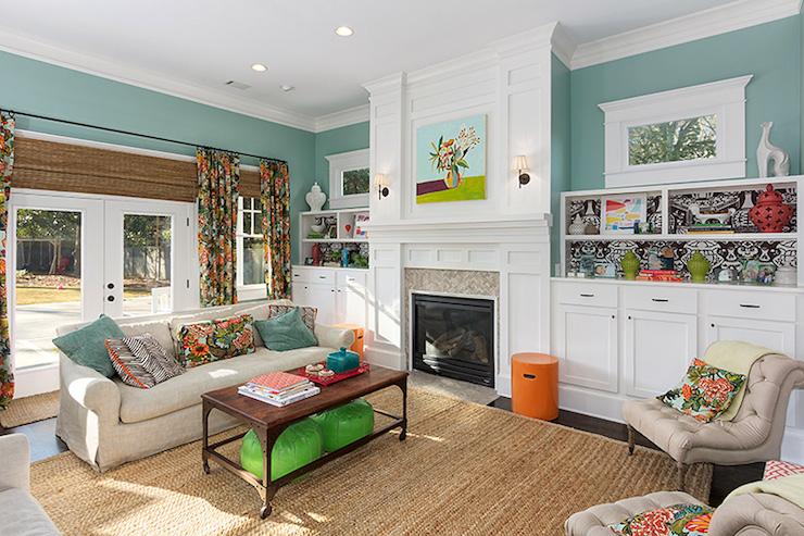 Wythe Blue Contemporary Living Room Benjamin Moore Wythe Blue Colordrunk Design