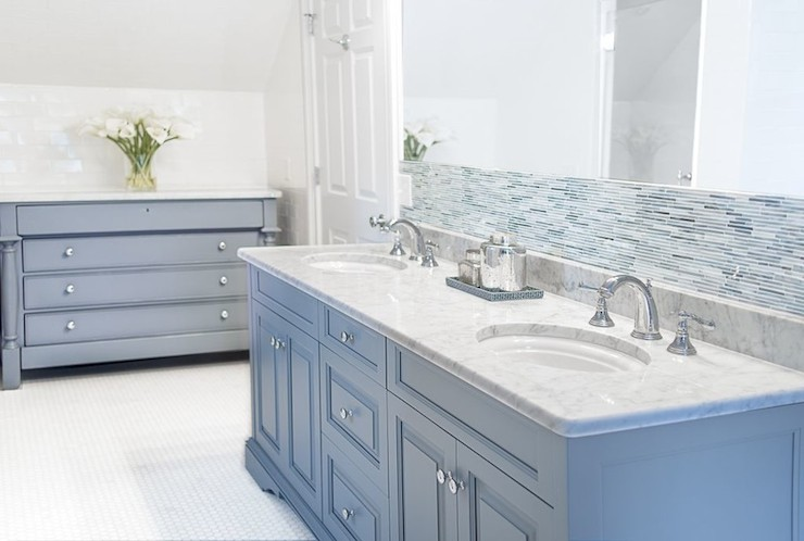Blue Gray Paint Colors Contemporary Bathroom