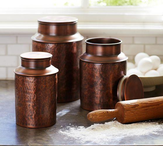 copper canisters pottery barn talavera kitchen canisters collection talavera kitchen