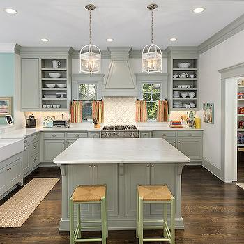 Grey Cabinets, Contemporary, kitchen, Benjamin Moore Fieldstone, Colordrunk Design