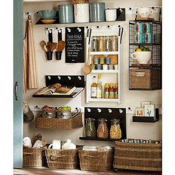 Art/Wall Decor - Build Your Own - Gabrielle Organziation Components | Pottery Barn - organizing system, wall mounted organizing system, organization system, pantry organizer, entry organizer, office organizer,