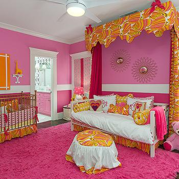 Pink And Orange Nursery Contemporary Nursery Modern