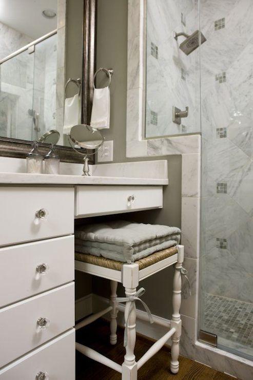 seagrass vanity stool - transitional - bathroom - twin companies