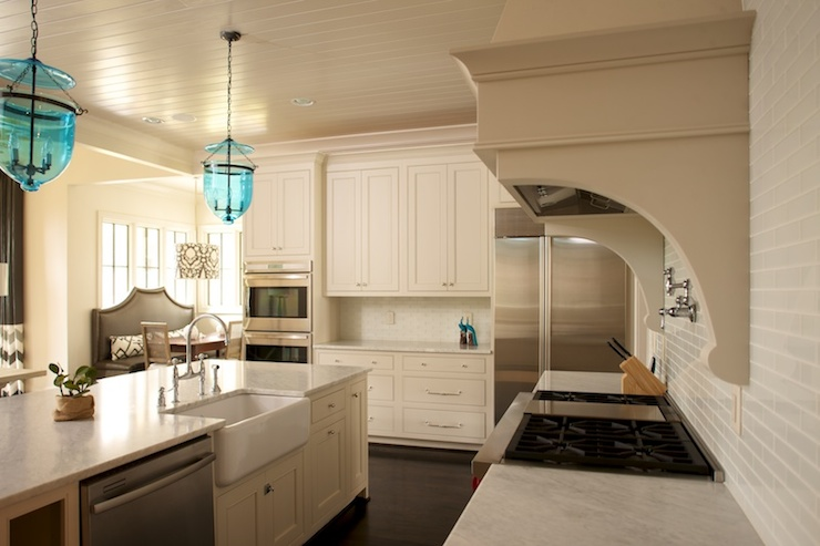 Kitchen Beadboard Ceiling Transitional Kitchen Twin