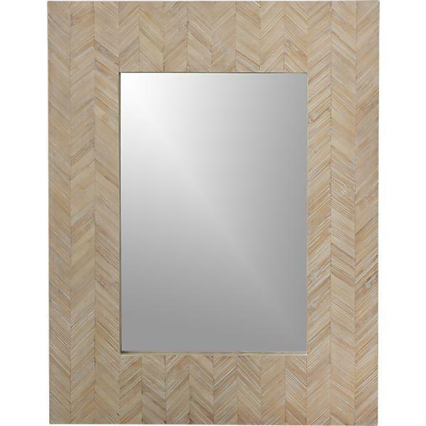 Chevron Mirror Crate And Barrel