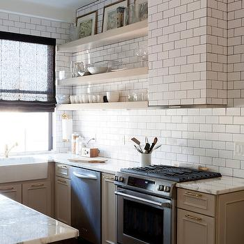 Tiled Kitchen Hood, Contemporary, kitchen, Lauren Rubin Architecture