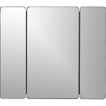 Mirrors - Triple Wall Mirror | Crate and Barrel - triple wall mirror, three paneled wall mirror, triptych wall mirror,