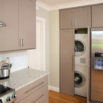 Hidden Laundry Room, Contemporary, laundry room, Twin Companies