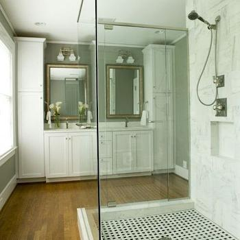 Freestanding Shower, Transitional, bathroom, Twin Companies