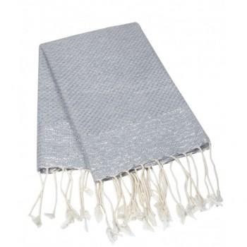 Decor/Accessories - Grey Luxe Turkish Towel I Shop HDB - gray fouta towel, gray turkish hand towel, gray and silver fouta towel,